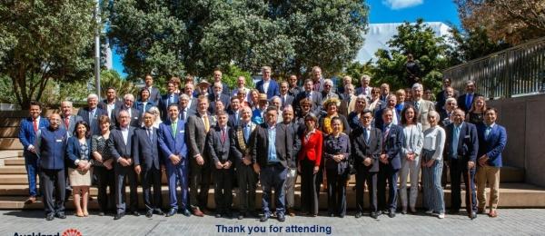 Consulado General de Colombia participó en la ceremonia especial de izada de banderas del Auckland Consular Corps