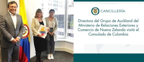 Directora del Grupo de Auckland del Ministerio de Relaciones Exteriores y Comercio de Nueva Zelanda visitó el Consulado de Colombia